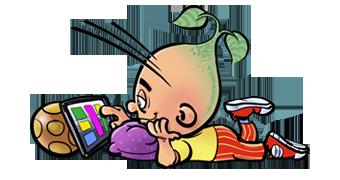 Kinderen & de Tabletnek / Ipad-rug
