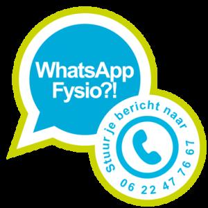 Fysiotherapie Mantinghcentrum Stadskanaal is nu ook via WhatsApp te bereiken.